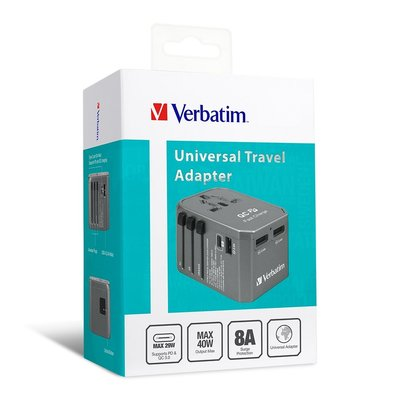 香港行貨 威寶 Verbatim 4 Ports QC/PD 連USB充電 插座 Universal Travel Adapter USB Charger