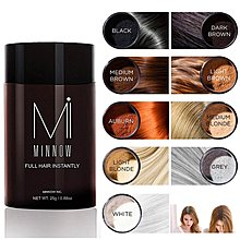髮寶 MINNOW米諾 頭髮纖維 25g  濃髮密髮  脫髮 稀髮 增髮纖維粉 髮際線粉紅褐色 Auburn