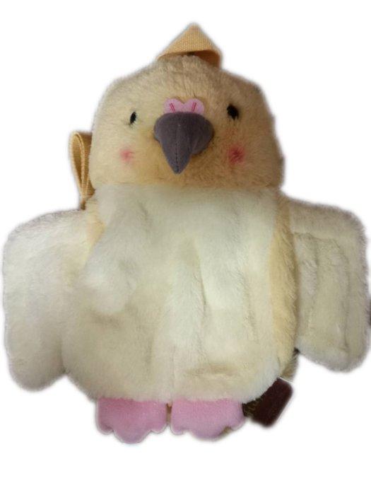 現貨 鸚鵡絨毛小背包 Sunlemon 日本正版授權 絨毛 兒童 背包 後背包 雙肩背包 玩偶 娃娃 3歲 兒童