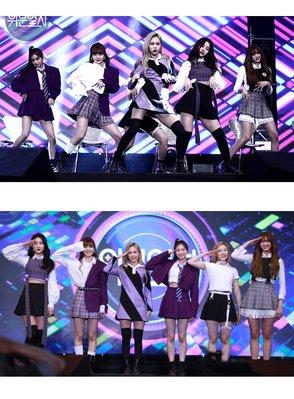 表演服 演出服裝 新款女團everglow打歌服時尚運動格子套裝爵士舞尾牙表演出服裝