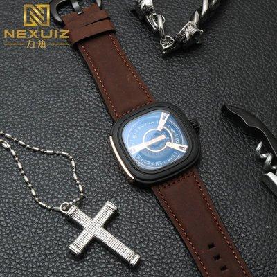 手錶配件 飾品 七個星期五手錶帶真皮 代用SEVENFRIDAY男錶帶M2/02磨砂牛皮 28mm