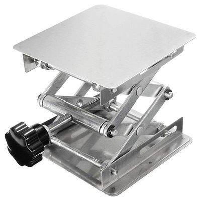 實驗室用手動不銹鋼升降臺200*200mm小型升降平臺 桌子增高工作臺桌子增高架