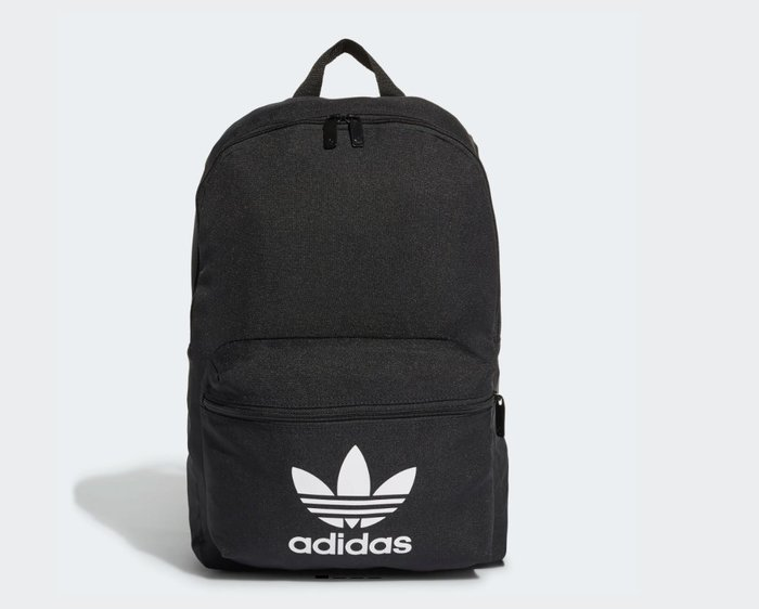 【IMPRESSION】adidas 愛迪達 新款 三葉草 小Logo 後背包 書包 黑白 黑 ED8667