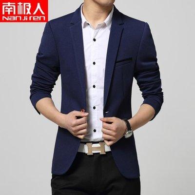 新款男裝小西服男韓版修身休閒西裝青年薄款外套上衣潮