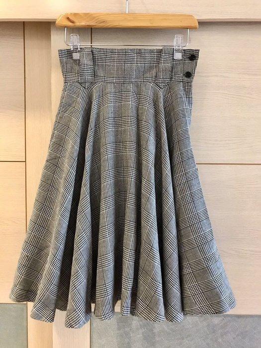日本帶回 Stock port 高腰格紋圓裙(女)