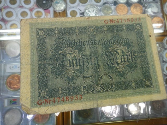 ☆金鈴館☆德國舊馬克1919年50馬克~紙鈔鈔票K019