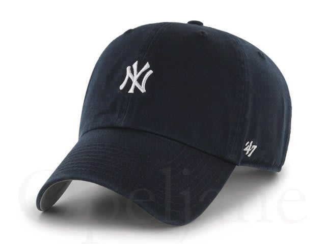 NEW YORK YANKEES 小LOGO 47 BRAND美國職棒洋基隊可調式棒球帽鴨舌帽海軍藍色明星藝人孫芸芸最愛