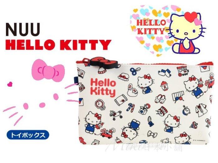 *Miki日本小舖日本p+g design NUU HELLOKITTY凱蒂貓防水矽膠化妝包/收納包/筆袋/手拿包 白色