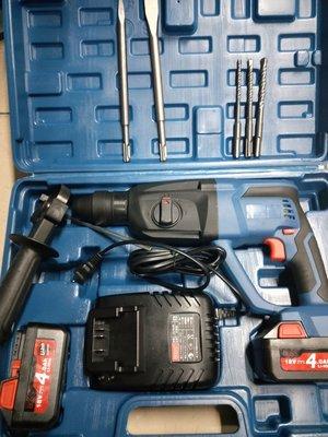 """""""工具醫院""""BOSS 2-24 超強力 18V 充電式 ZC-2402  三用免出力鎚鑽 四溝電鑽 雙4.0A電池!"""
