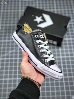 Converse Chuck 70s 匡威高端皮面新款低幫休閒運動鞋 板鞋 硫化鞋 男女鞋 百搭 黑色