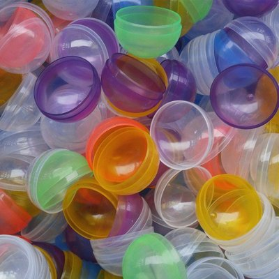 45mm按壓式扭蛋殼玩具公仔糖果盒收納盒包裝摸彩小禮物彩色隨機出貨抽獎婚禮小物遊戲抽獎球夾娃娃機摸彩球扭蛋球