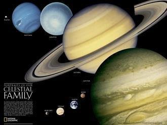 ((1世界地圖))太陽系-銀河-地圖-美國-50X79cm-Milky way-Solar system-英文版