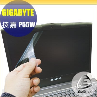 【Ezstick】技嘉 GIGABYTE P55W 15吋 專用 靜電式筆電LCD液晶螢幕貼 (可選鏡面或霧面)