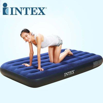 美國 INTEX 68757 單人防水植絨充氣床加床或露營 191cm*99cm*22cm(附修補片)
