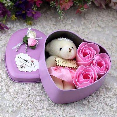 《成品》DIY 愛心小熊 玫瑰花瓣香皂系列【 因為愛 】此為完成品,加鑽版。純手工製作,是您送禮最佳選擇,絕不能錯過。