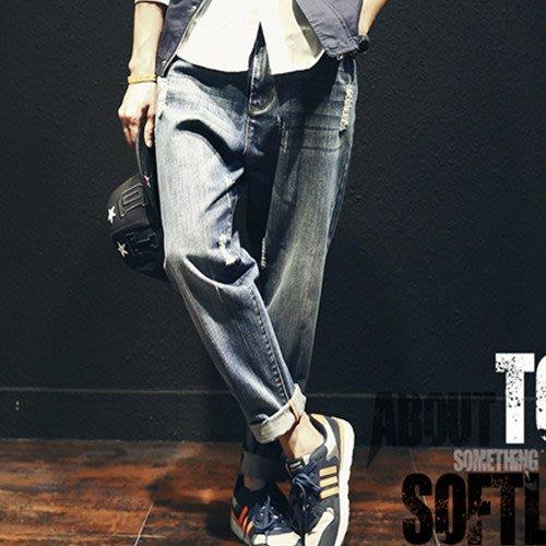 中大尺碼日系寬鬆哈倫褲牛仔褲(B029)