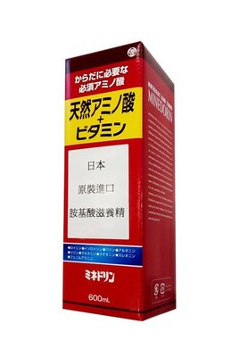 *美生藥粧* 日本原裝進口【胺基酸滋養精】600ml,風味佳的營養補充劑,產前產後或病後之補養