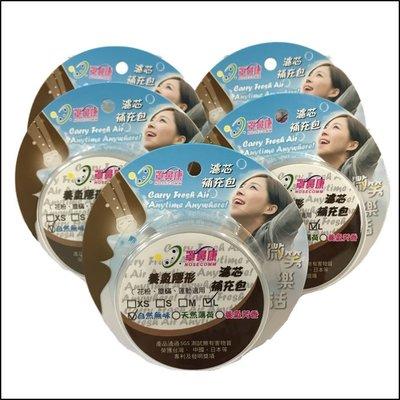 [罩鼻康Nosecomm]濾芯特惠組(無鼻罩)--養氣天然薄荷--L適用(5盒-30對濾芯)