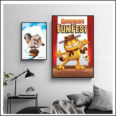 加菲貓 馬達加斯加 冰原歷險記 電影海報 藝術微噴 掛畫 嵌框畫 @Movie PoP 賣場多款海報~