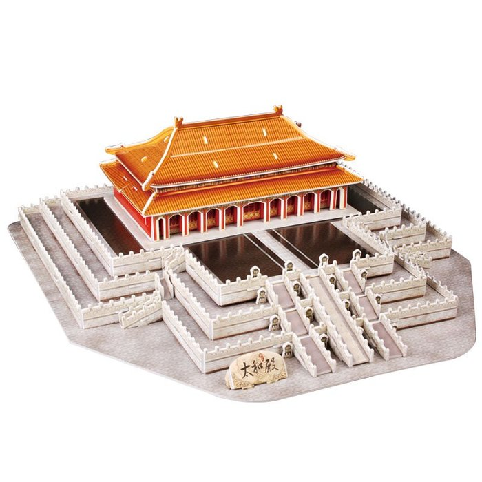 奇奇店-樂立方立體拼圖3D紙模型拼裝玩具建筑故宮太和殿MC127h兒童成人(規格不同價格不同)