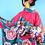 【尋寶圖】現貨!日式和服出口日本大山茶花振袖和服正裝日式和服女滌綸免熨燙傳統和服套裝35219