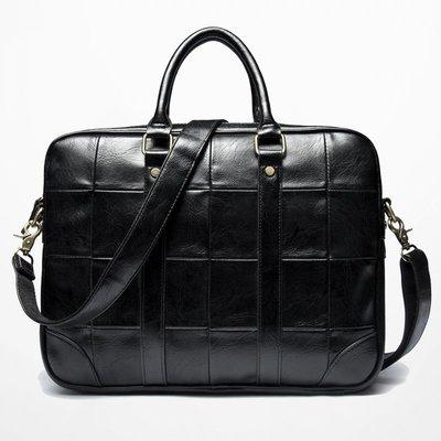手提包 公事包 旅行包2019新款公文包 韓版商務男士手提包出差文件包出差單肩包斜跨包