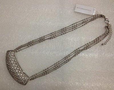 【飾界美~殺很大】歐美品牌 charter club 高質感古銀編織網造型項鍊~現貨下標即售