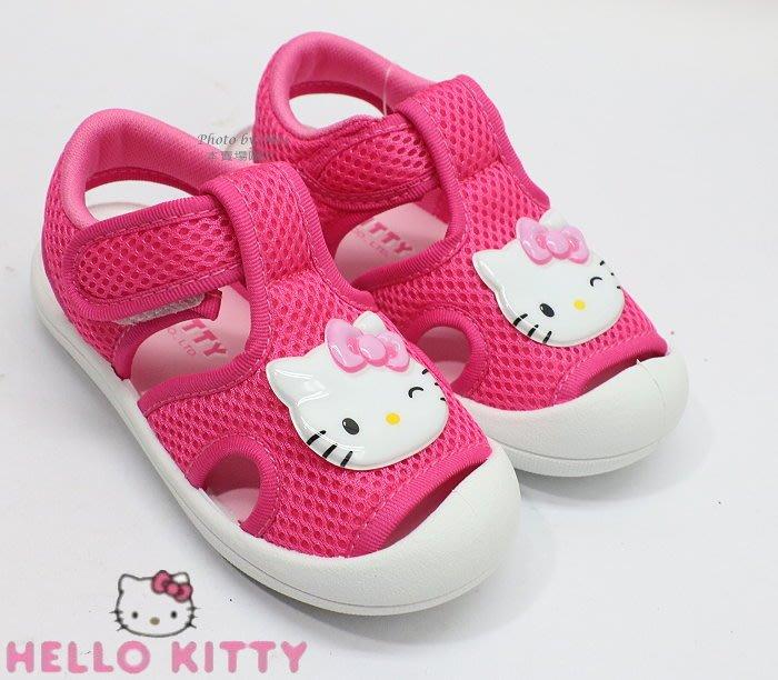 HELLO KITTY  凱蒂貓 兒童休閒包趾涼鞋 ( 桃紅 819213R )