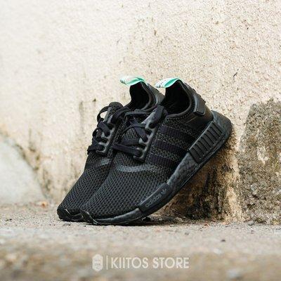 Adidas NMD R1 黑色 蒂芬尼綠 黑綠 女鞋 AQ1102