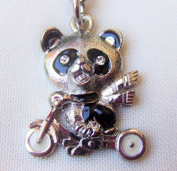 ☆創意小物店☆ 熊貓A-6 鑰匙扣/創意可愛金屬鑰匙圈 時尚造型個性飾品(扁圈或問號鉤  二選一)