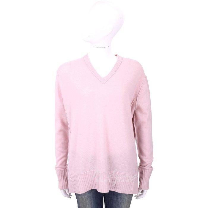 米蘭廣場 ALLUDE 喀什米爾粉色V領織紋羊毛衫 1740217-05
