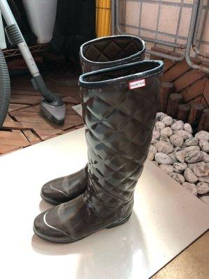 Hunter 雨鞋 靴子 咖啡色 39號