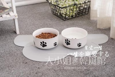 貓狗日用品陶瓷碗單碗寵物用品狗碗貓碗陶...