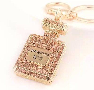 【樂窩】水晶香奈兒 鑰匙圈 鑰匙扣 皮包吊飾 掛飾 禮物 禮品  生日禮物 交換禮物 聖誕禮物 情人節禮物