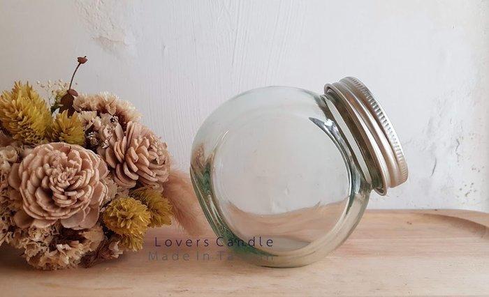銀蓋玻璃瓶(長8公分、寬5.5公分、 高8公分)(不含瓶內花材)【活動party/婚禮/求婚/喜宴】
