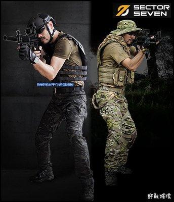 【野戰搖滾】SECTOR SEVEN IX2鷹眼戰術長褲【Multicam Black】暗夜迷彩 黑色多地形迷彩褲工作褲