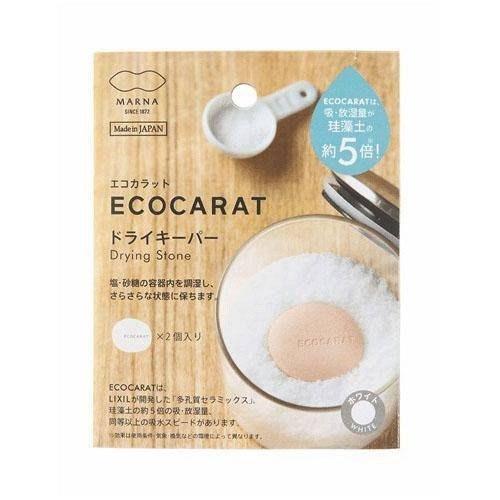 ☆哈哈奇異果☆日本製MARNA ECOCARAT 吸濕陶瓷乾燥石 多孔質陶瓷 乾燥塊 一組2顆入