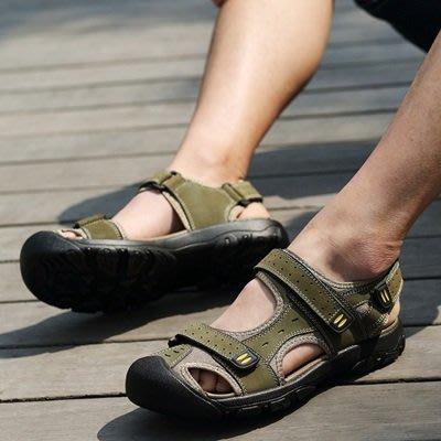 涼 鞋 真皮 拖鞋-清爽透氣休閒耐磨男鞋子3色73mi20[獨家進口][米蘭精品]