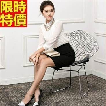 OL套裝 長袖裙裝辦公上班族商務-完美修身簡單大方女西裝外套制服66x39[獨家進口][米蘭精品]
