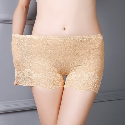 CD偽娘蕾絲防走光安全褲女夏時尚內搭打底褲性感緊身cd變裝偽娘cos內褲
