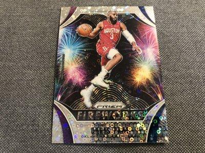 Chris Paul 超好看!! 煙火 特卡 泡泡亮 fireworks 金屬卡 2019-20 Prizm NBA