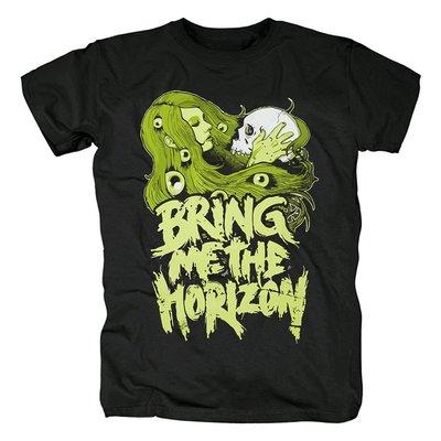 Bring Me The Horizon死核搖滾樂隊潮流骷髏殘酷男士短袖T恤衫