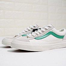 D-BOX  Vans Vault OG style 36 校園 米白綠 帆布鞋 板鞋 經典