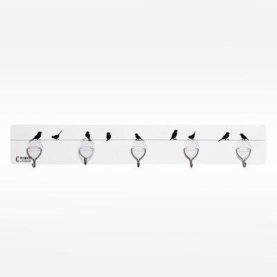 金德恩 台灣製造 魔術貼金屬五勾掛架/無痕掛勾系列