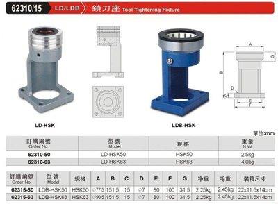 鎖刀座 LD/LDB 62310/15