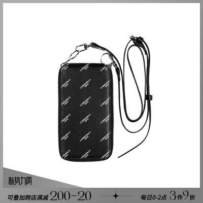 韓風專櫃飾品BLACKHEAD黑頭/設計師潮牌 時尚趣味字母印花拉鍊手機掛包零錢包