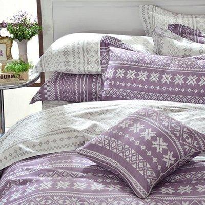 百貨專櫃品牌/ 美國精梳棉 / 標準雙人床包兩用被四件組【芃云生活館】