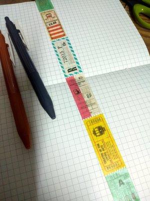 【R的雜貨舖】紙膠帶分裝(非整捲)  日本mt和紙膠帶 mt fab 票券車票孔(復古車票票券)