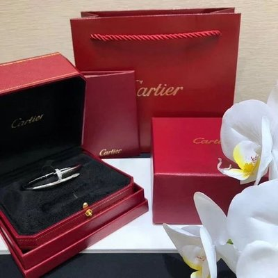 卡地亞 Cartier 釘子 帶鑽手鐲 手環
