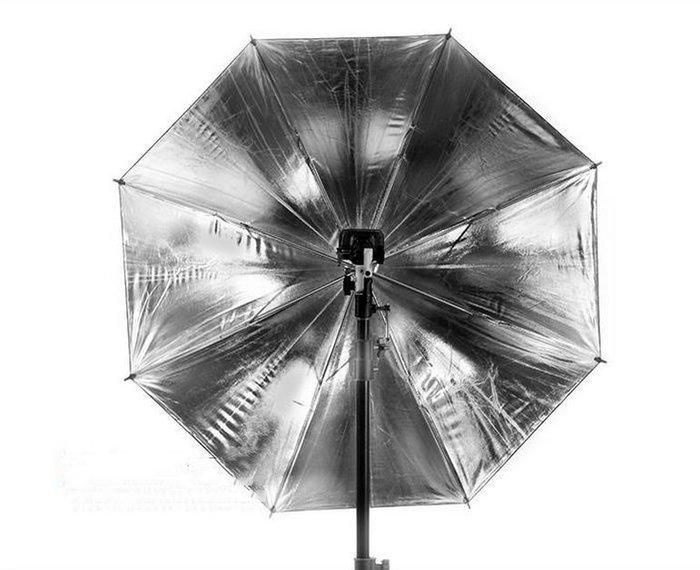 【閃燈小舖】現貨 84cm 反射銀傘 控光傘 柔光傘 反射傘 外拍 棚內 外閃 棚燈 外拍燈